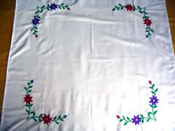 large embroidered table cloth